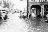 Flooding at 12th Avenue and Flagler Street after the Hurricane, 1947 Photographic Print