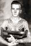Portrait of Bob Shaw with Tattoos by Bert Grimm, C.1944 Photographic Print
