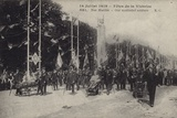 Wounded French Soldiers Marching in the Paris Victory Parade, 1919 Photographic Print
