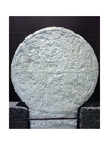 Stone Ceremonial Disk, Originating from Caracol of Chichen Itza Giclee Print