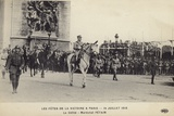 Marshal Petain Taking Part in the Paris Victory Parade, 14 July 1919 Photographic Print
