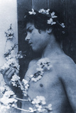 Study of a Young Boy with Flowers in His Hair, C.1899 Photographic Print by Wilhelm Von Gloeden