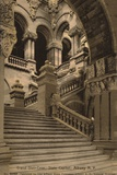 Grand Staircase, State Capitol, Albany, New York, USA Photographic Print