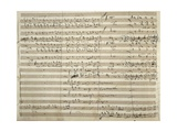 Handwritten Sheet Music for the Final Fugue Tutto Nel Mondo E' Burla Lámina giclée