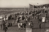 Postcard Depicting the Promenade on the Seafront at Deauville Photographic Print
