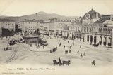 Postcard Depicting the Casino on the Place Massena in Nice Photographic Print