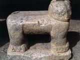 Jaguar, Sculpture in Stone, Temple of the Jaguars, Chichen Itza Photographic Print