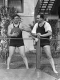 Al Capone Working Out at His Palm Island Home, Miami Beach, C.1930 Photographic Print