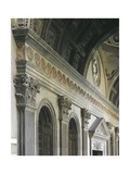 Architectural Detail from Pazzi Chapel, Architect Filippo Brunelleschi Giclee Print