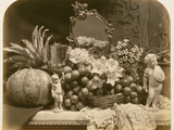 Still Life of Fruit with Mirror and Figurines, 1860 Photographic Print by Roger Fenton