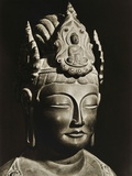 Yumechigai Kannon from the Early Nara Period, Horyuji, Nara, Japan, 1950 Photographic Print