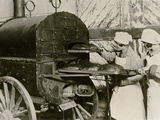Poland on the Eve of War: Baking Bread in a Field Oven, Warsaw, C.1939 Photographic Print
