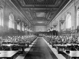 Main Reading Room, the New York Public Library, C.1910-20 Photographic Print