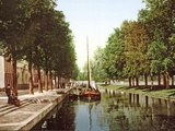 Sailing Barge on the Princess Canal in the Hague, 1890-1900 Photographic Print