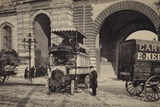 Postcard Depicting a Bus on Les Guichets Du Louvre Photographic Print