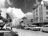 Traffic Along Las Olas Boulevard, Fort Lauderdale, Florida, 1959 Photographic Print
