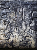 Human Figure, Relief of the Temple of the Jaguars, Chichen Itza Photographic Print