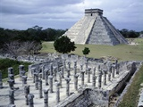 The Pyramid in Kukulkan known as the Castle in Chichen Itza Photographic Print