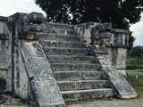 The Platform of the Eagles and Jaguars in Chichen Itza Photographic Print