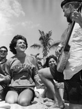 Students on Spring Break Relaxing on Ft. Lauderdale Beach, 1962 Photographic Print