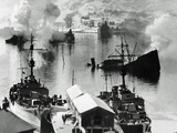 The Remains of a Naval Battle, Narvik, Norway, 1940 Photographic Print