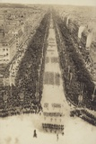 Troops Marching Down the Champs Elysees in Paris. 1919 Photographic Print