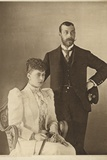 George, Duke of York, and His Wife, Princess Mary of Teck Photographic Print
