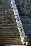 Temple of the Osario, Detail of the Staircase, Chichen Itza Photographic Print