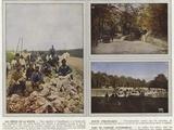 Les Heros De La Route, Route Strategique, Parc De Camions Automobiles Photographic Print by Jules Gervais-Courtellemont