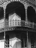 Balcony in the French Quarter, New Orleans, C.1940 Photographic Print