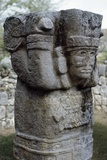 Carved Capital, Pyramid of Kukulkan or El Castillo, Chichen Itza Photographic Print