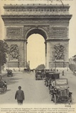 Postcard Depicting the Arc De Triomphe on the Champs-Elysees Photographic Print