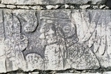 Bas-Relief in the Temple of the Warriors, Chichen Itza Photographic Print