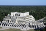 Temple of the Warriors and the Group of Thousand Columns, Chichen Itza Photographic Print