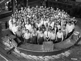 Employee Group Portrait, Within a Section of the Hale Telescope, C.1936-48 Photographic Print