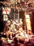 U.S. Army Medics are Treating Two Gis, Southern England, 1944 Photographic Print