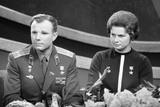 The Cosmonauts Yuri Gagarin and Valentina Tereshkova Photographic Print