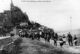 Pilgrimage of the Commune of Vains to Mont Saint-Michel, C.1910 Photographic Print