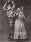 Vaslav Nijinsky and Tamara Karsavina, Russian Ballet Dancers Photographic Print