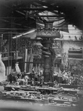 The Hand of the Statue of Liberty in the Monduit Workshop, 1876 Photographic Print
