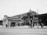 Atlantic Avenue, Subway Entrance, Brooklyn, N.Y., C.1910-20 Photographic Print