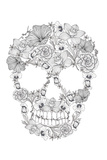 Skull From Flowers Wall Sign by cherry blossom girl