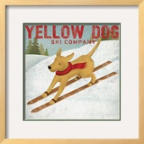 Yellow Dog Ski Co Framed Giclee Print by Ryan Fowler