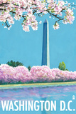Washington DC, Washington Monument Plastic Sign by  Lantern Press