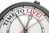 Time To Live Concept Clock Plastic Sign by  donskarpo