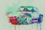 Porsche 911 Watercolor 2 Plastic Sign