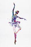 Ballerina Dancing Watercolor 2 Kunststof bord van Irina March