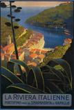 La Riviera italiana: da Rapallo a Portofino, Poster di viaggio, Portofino, Italia Targhe in plastica di  Lantern Press