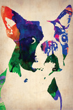 Boston Terrier Watercolor Wall Sign