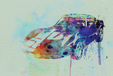 Corvette Watercolor Plastic Sign by  NaxArt